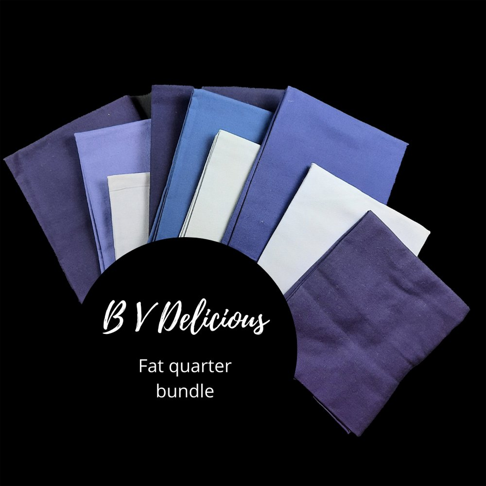 Blue violet fat quarter bundle product image