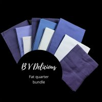 Blue violet fat quarter bundle product image