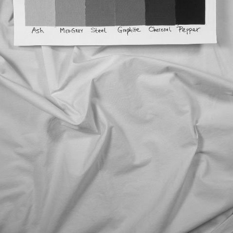 Cotton candy fabric in black and white to show value