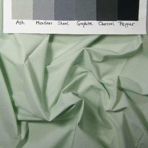 Flat, light greeny-grey solid, Pimatex