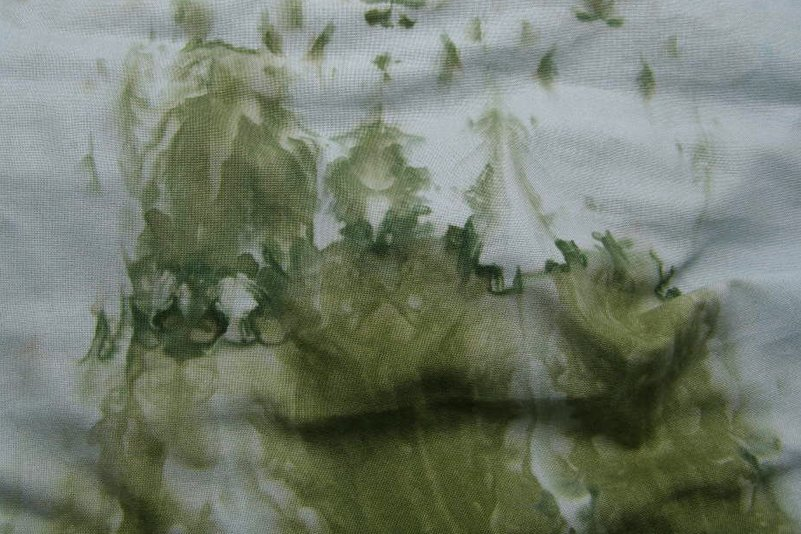 Snow dyed green-olive Kona