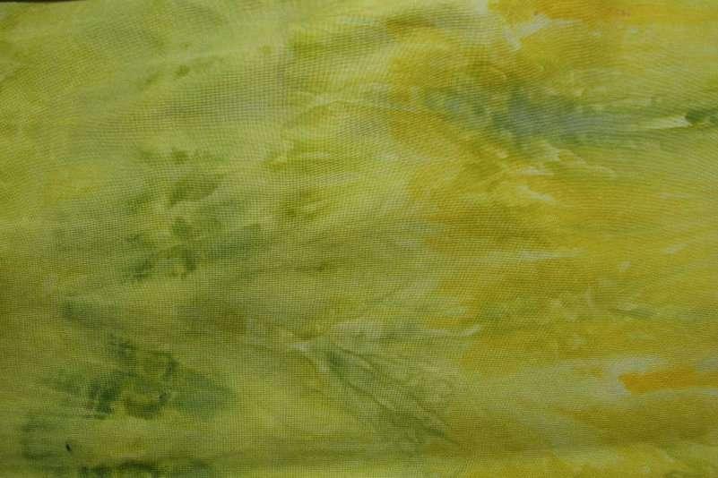 Snow dyed green & yellow Kona