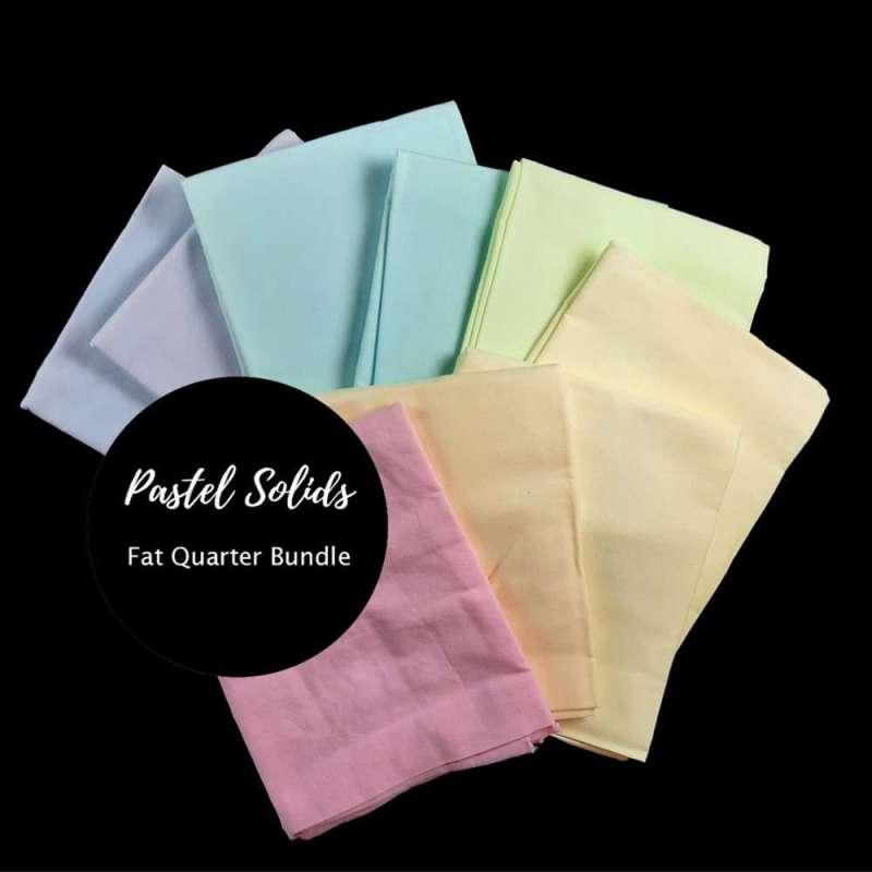 9 pastel fat quarters