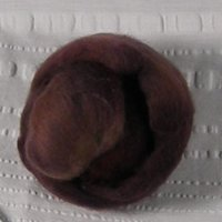 Brown wool roving