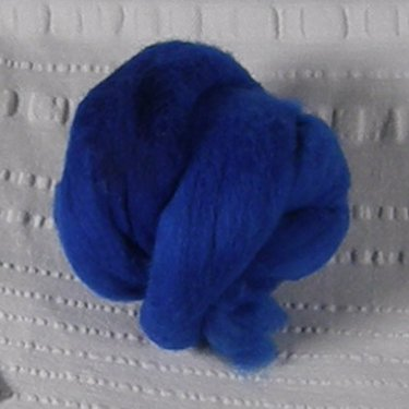 Bright blue roving