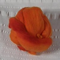 Orange merino roving