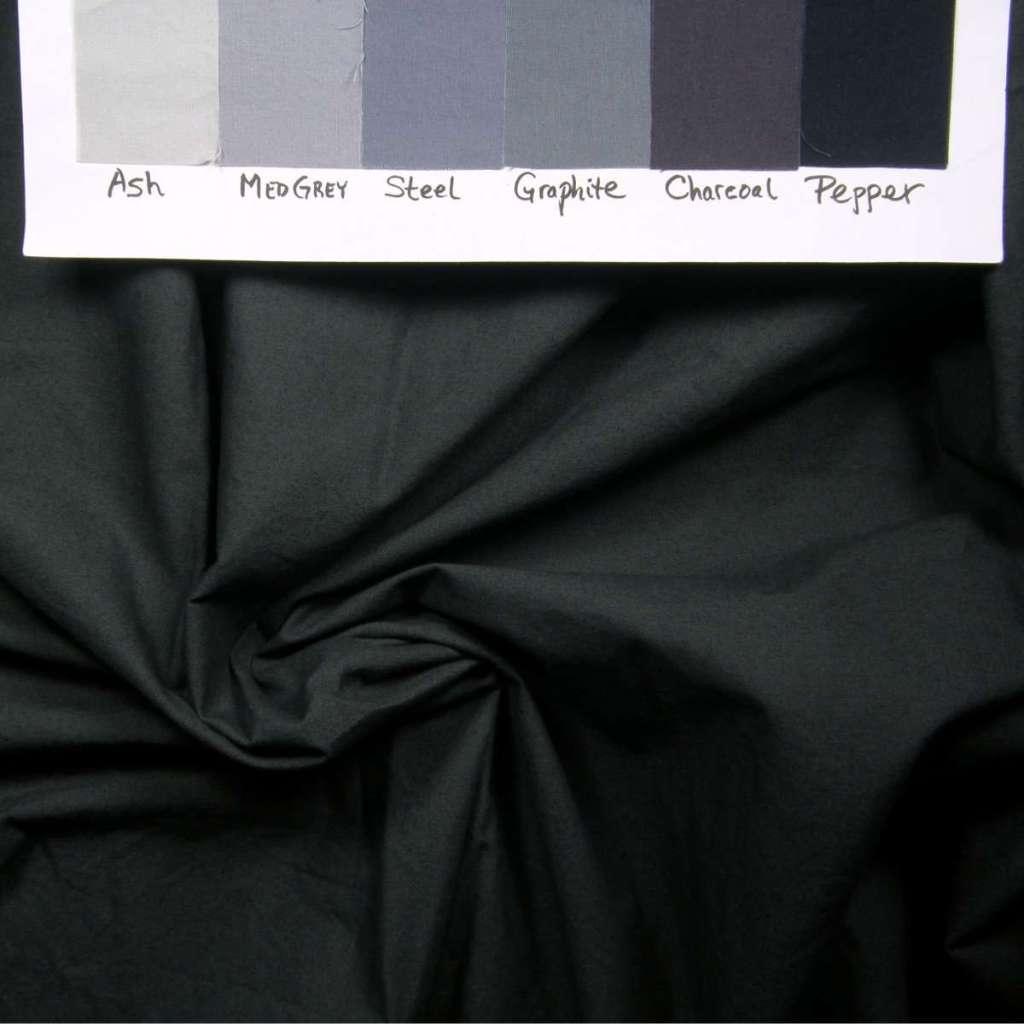 Dark evening ink grey fabric