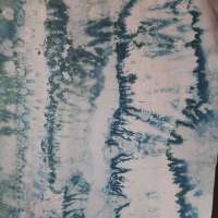 Shades of blue in lengthwide bands snow-dye on Pimatex full width