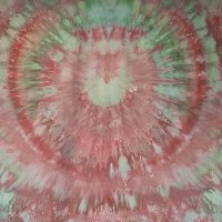 Pink and green snow-dye on Pimatex full width