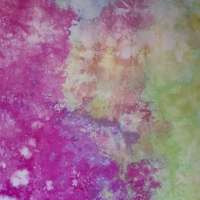 Spring crocus and Nile green snow-dyed fabric detail