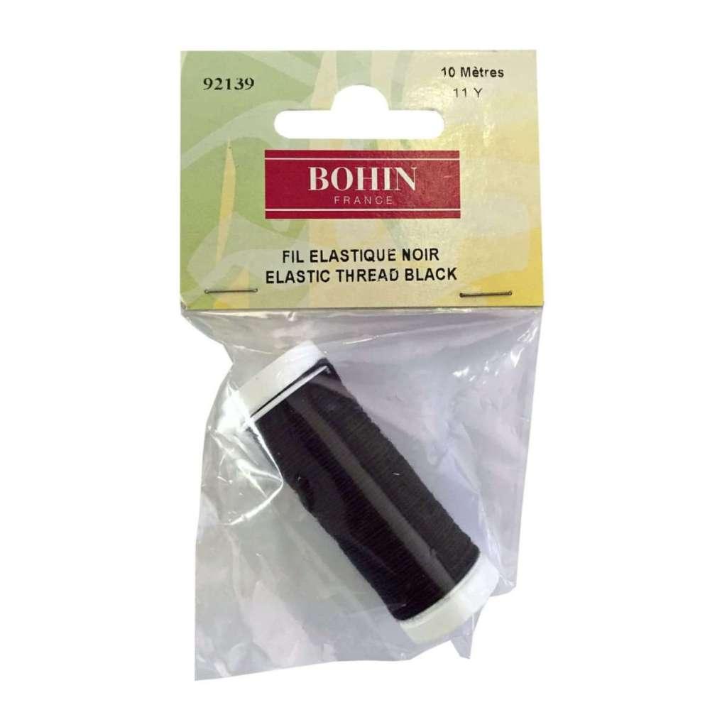 Black elastic thread, 11 yd