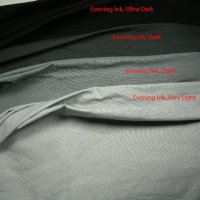 Ultra dark grey (black) evening ink fabric