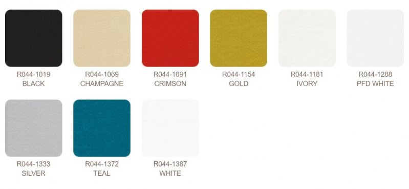 Color Choices for Radiance Fabric Bolts