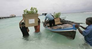 Las Maldivas se encuentran entre los países que sufren de manera desproporcionada los efectos del cambio climático. Foto: FAO/Prakash Singh