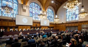 View of the ICJ courtroom on 2 February 2017 at the delivery of the Court's Judgment on Somalia v Kenya. UN Photo/ICJ-CIJ/Frank van Beek.