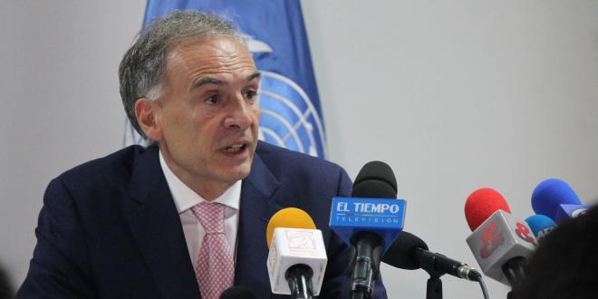Jean Arnault, jefe de la Misión de la ONU en Colombia. Foto: Misión de la ONU en Colombia