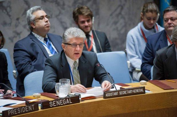 Miroslav Jenca, subsecretario general de la ONU para Asuntos Políticos, en el Consejo de Seguridad. Foto de archivo: ONU/Rick Bajornas