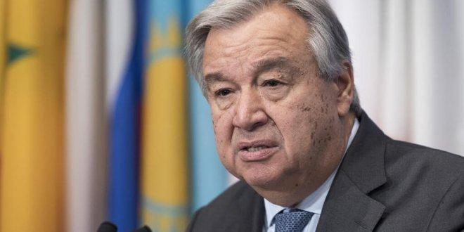 António Guterres, Secretario General de la ONU, se dirige a la prensa en Nueva York. Foto: ONU/Mark Garten
