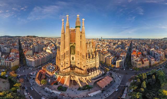 Barcellona dallalto