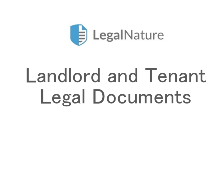 Landlord and Tenant Legal Documents