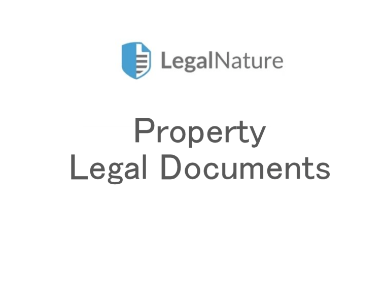 Real Estate/Property Legal Documents