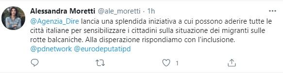 alessandra moretti tweet balcani