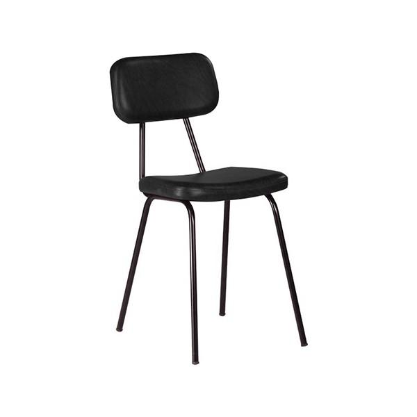chaise 4 pieds assise et dossier tissu enduit m2