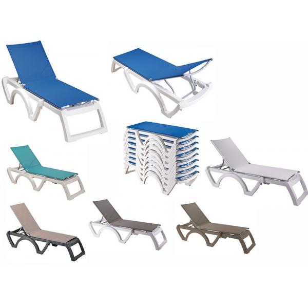 lot de 16 bains de soleil jamaica beach