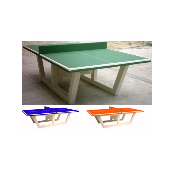 Table De Ping Pong En Beton Verte Ou Bleu Hydrofuge Et Antigraffiti Nf Pmr