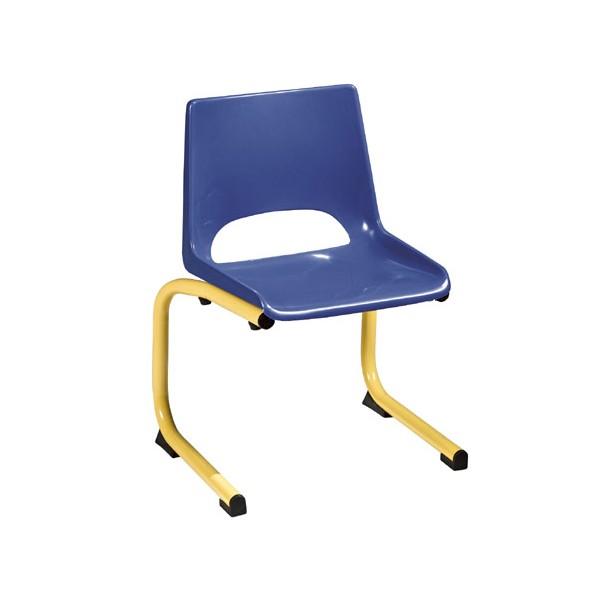 chaise coque plastique appui sur table maternelle t1 a t4