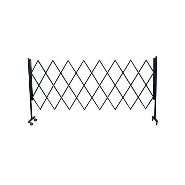 barriere extensible mobile acier noire l300 x h160 cm