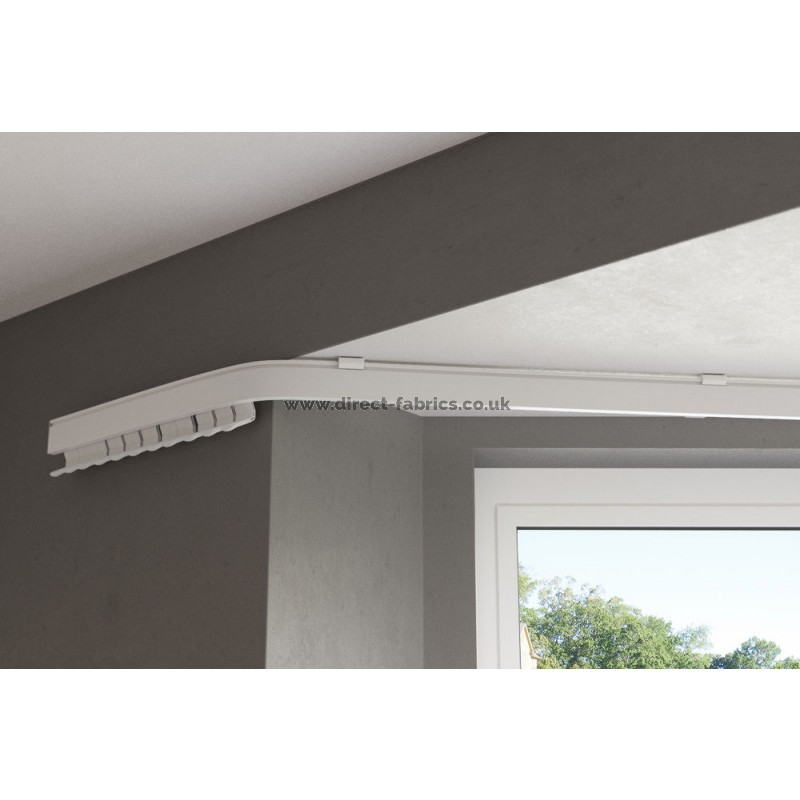 fineline heavy weight curtain track bendable for bay windows metal curtain track white cut down kit