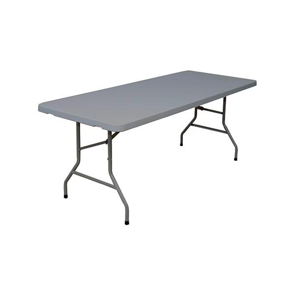 table pliante polyethylene eco grise 183x76 cm