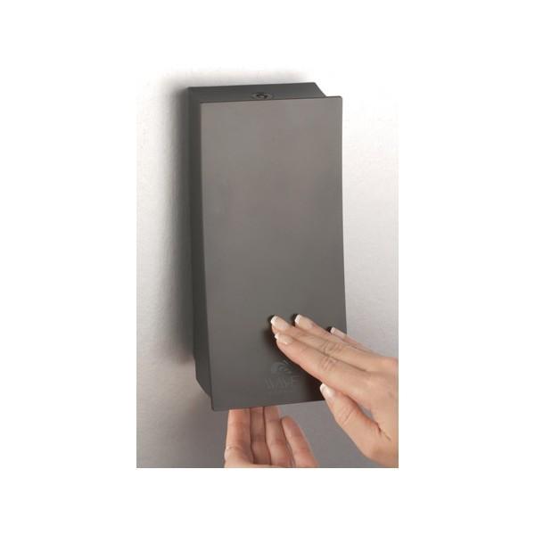 distributeur de savon 1 reservoir 450 ml design plus noir mat
