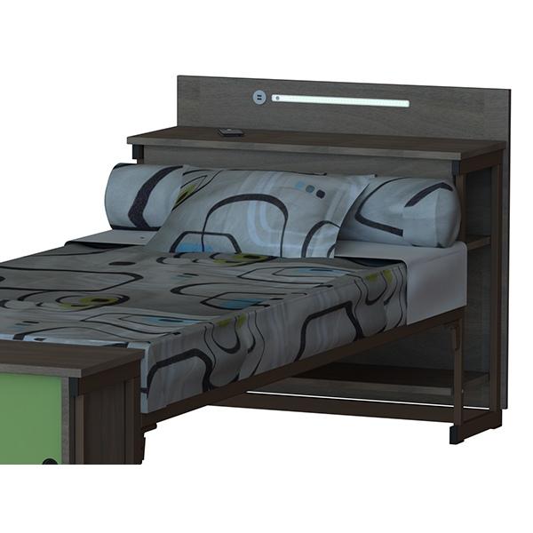 tete de lit yuka rangement bas l 90 cm