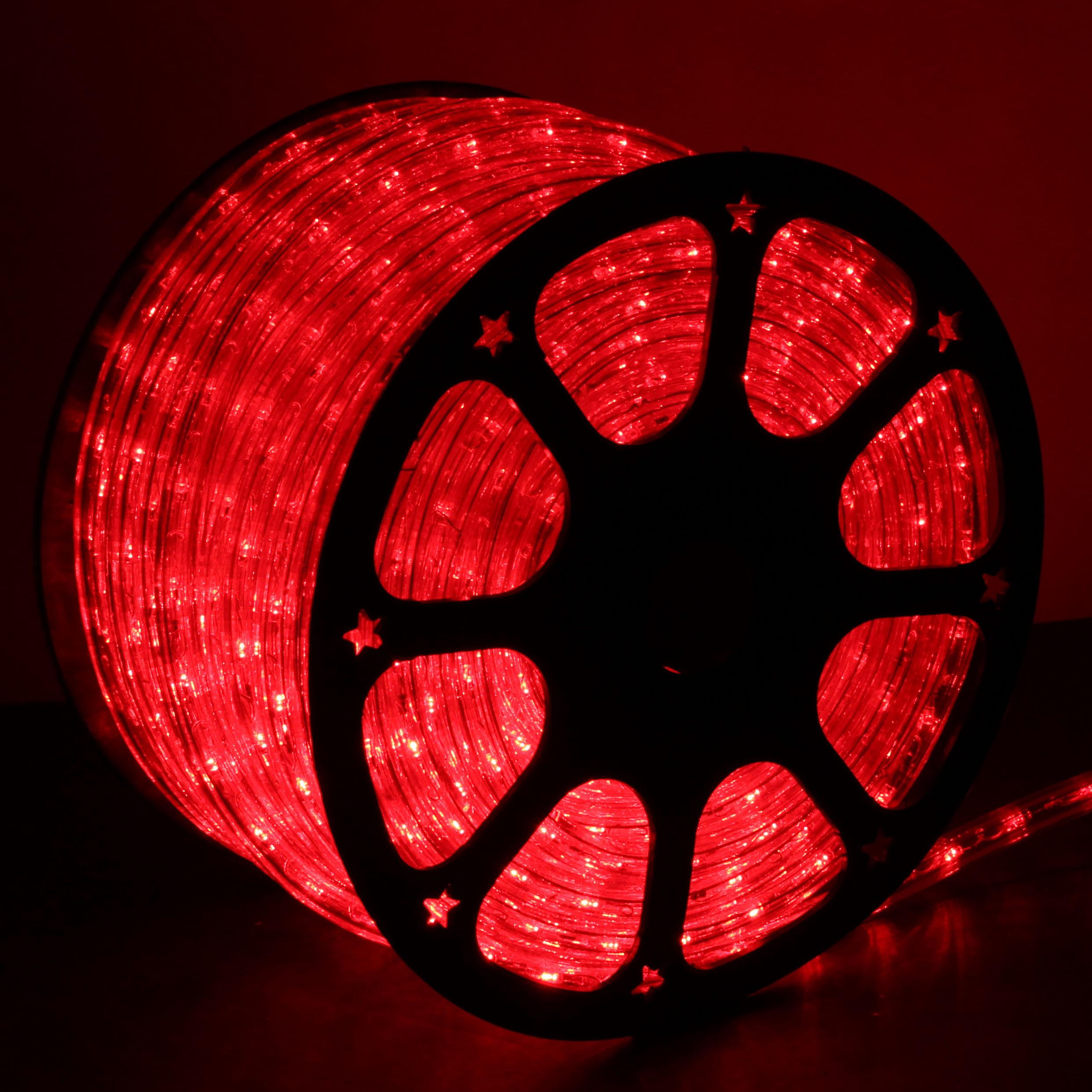 Red LED Rope Lights 148FT RLWL148RED  DirectLightingcom