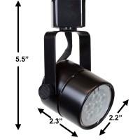 LED Track Lighting Kit Black Finish GU10 7.5W 3K LED Bulb ...