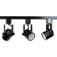 LED Track Lighting Kit Black Finish GU10 7.5W 2700K LED ...