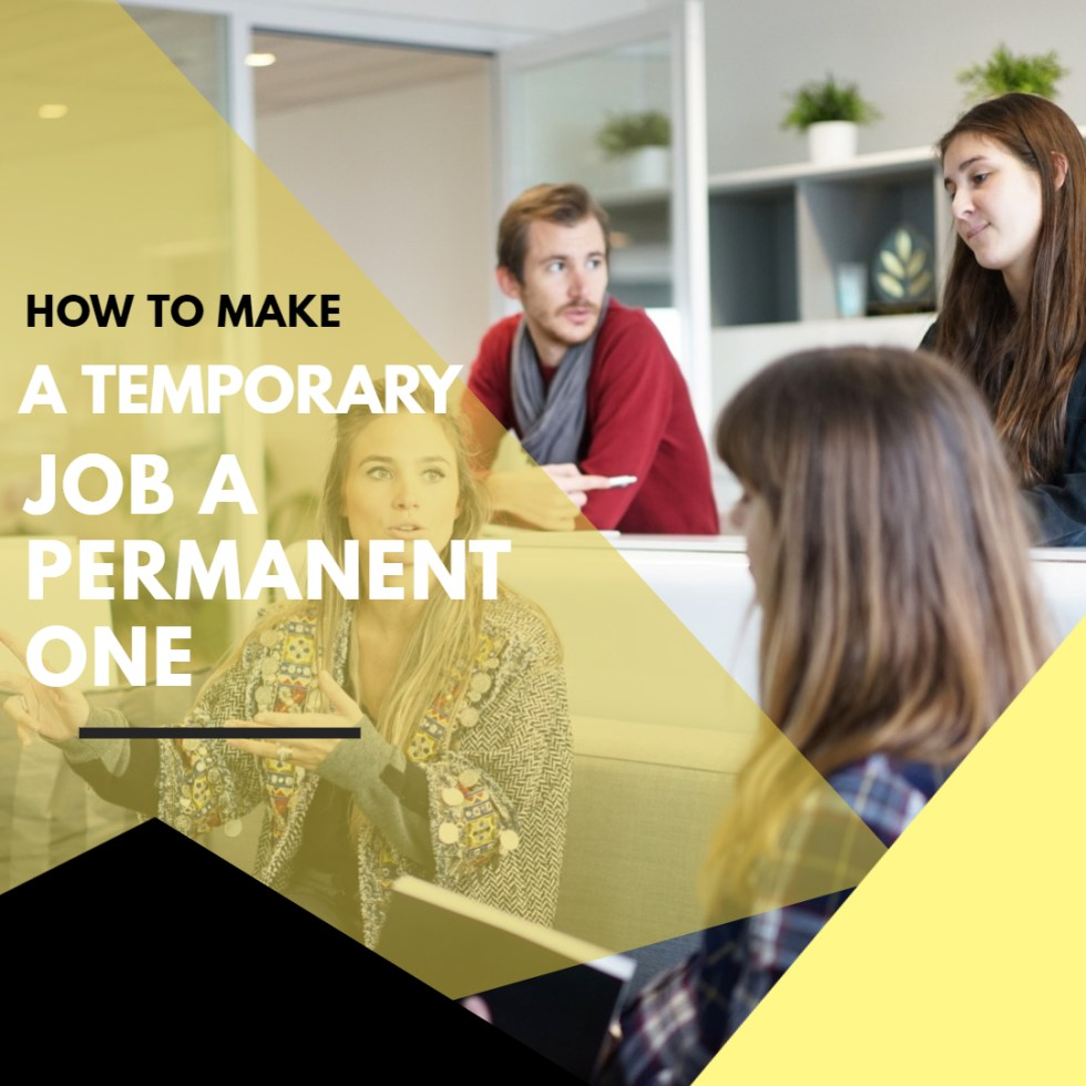 Make a temp job a permanent one in Wiltshire