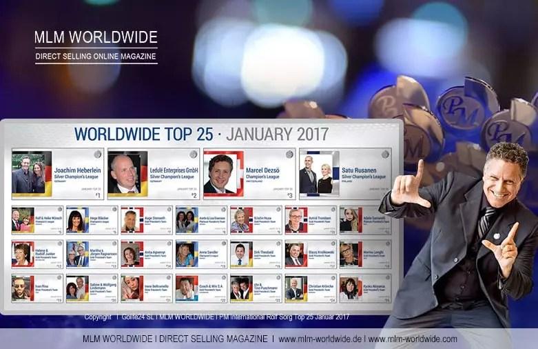 PM International WORLDWIDE TOP 25 Januar 2017