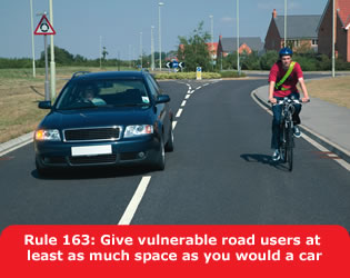 Give vulnerable road users space