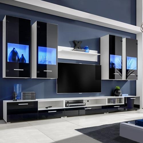 ensemble meubles tv xxl 300 cm eclairage led montreal