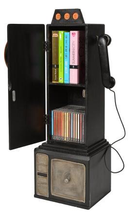 meuble range cd dvd ou livres style telephone retro