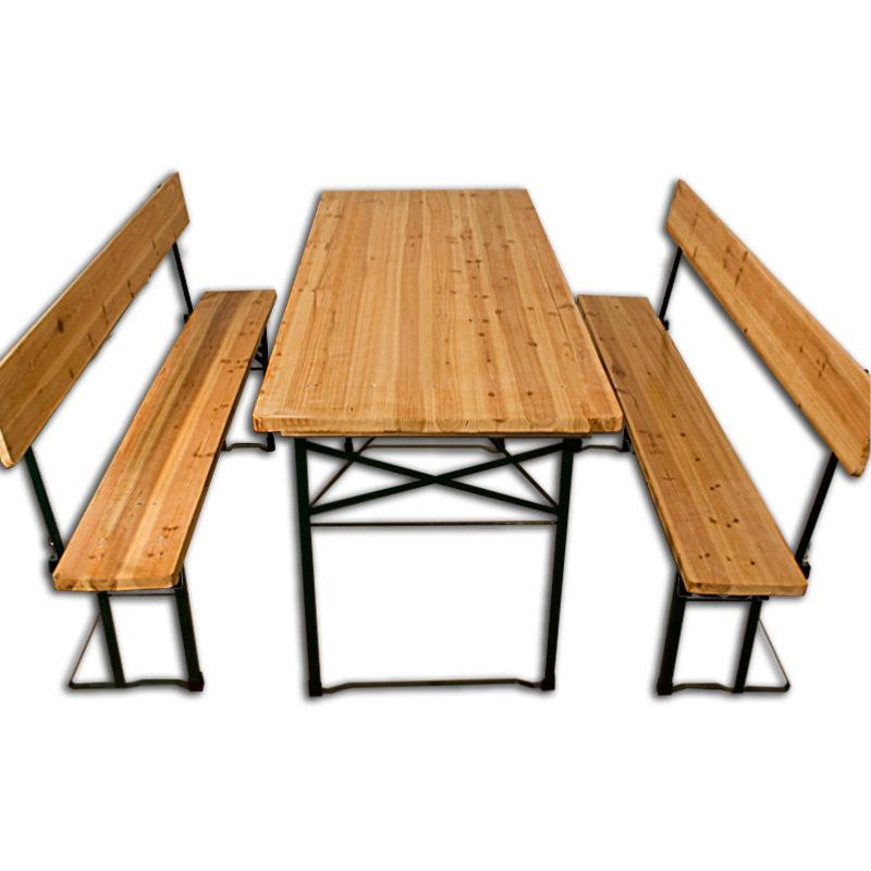 table avec banc en bois pliante style brasserie 180 cm