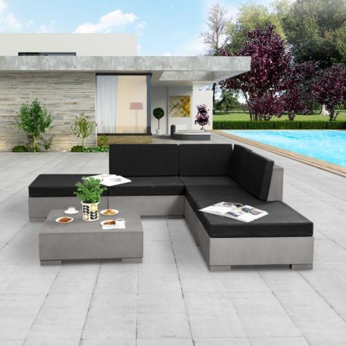 canape d angle salon de jardin en beton xl 225 x 225 cm