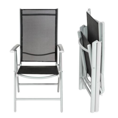 salon de jardin en aluminium 6 chaises 1 chaise longue