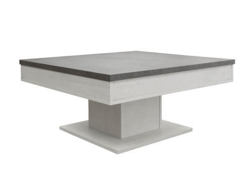 table basse sur pied coulissante 80 cm 2 coloris