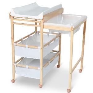table a langer pratique avec baignoire et rangement