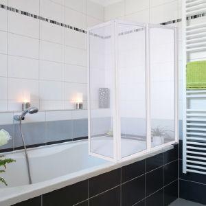 Pare baignoire douche pivotant 3 volets coulissants