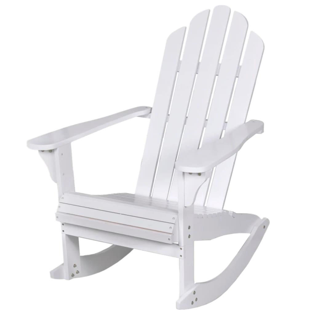 fauteuil a bascule alabama rocking chair bois blanc